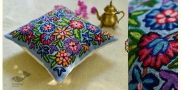 "गुल ✩ Kashmiri Ari Embroidery Cushion Cover (16"" x 16"") ✩ 20"