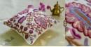 गुल ✩ Kashmiri Ari Embroidery Cushion Cover (16 x 16) ✩ 30
