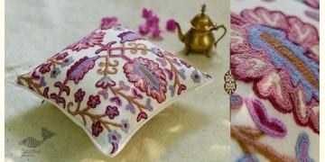 "गुल ✩ Kashmiri Ari Embroidery Cushion Cover (16"" x 16"") ✩ 30"