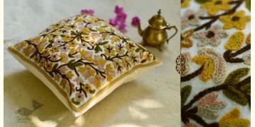 "गुल ✩ Kashmiri Ari Embroidery Cushion Cover (16"" x 16"") ✩ 31"