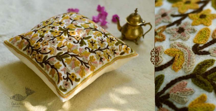गुल ✩ Kashmiri Ari Embroidery Cushion Cover (16 x 16) ✩ 31