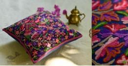 "गुल ✩ Kashmiri Ari Embroidery Cushion Cover (16"" x 16"") ✩ 32"