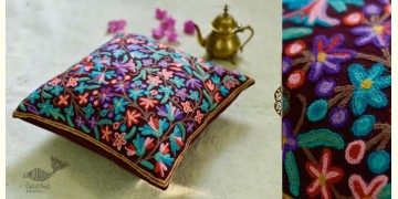 "गुल ✩ Kashmiri Ari Embroidery Cushion Cover (16"" x 16"") ✩ 34"