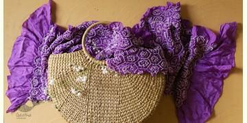 Twinkle drops ~ Silk Bandhani Masterpiece Dupatta ~ D