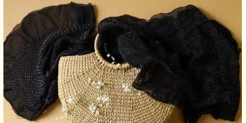 Twinkle drops ~ Silk Bandhani Masterpiece Dupatta ~ G