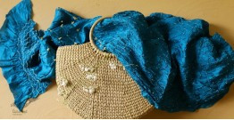 Twinkle drops ~ Silk Bandhani Masterpiece Dupatta ~ K