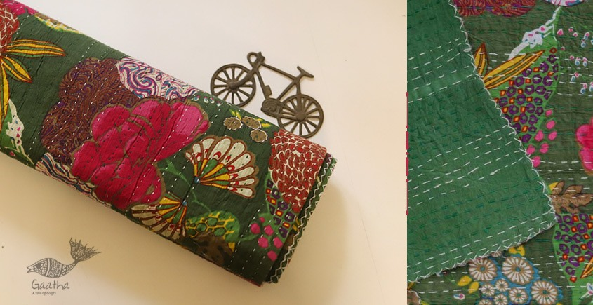 टांका - Embroidered Cotton Bed cover { Double bed } ~ 4