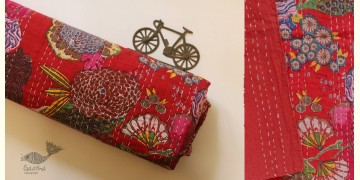 टांका - Embroidered Cotton Bed cover { Double bed } ~ 6