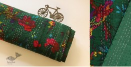 टांका - Embroidered Cotton Bed cover { Double bed } ~ 7