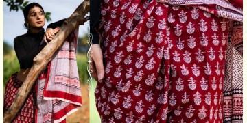 Kamya . काम्या ✽ Bagh Natural Dyed Block Printed Cotton Saree ✽ 36