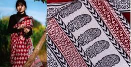 Kamya . काम्या ✽ Bagh Natural Dyed Block Printed Cotton Saree ✽ 37
