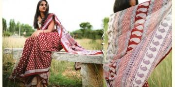 Kamya . काम्या ✽ Bagh Natural Dyed Block Printed Cotton Saree ✽ 39