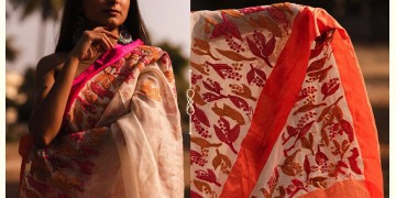 Kamya . काम्या ✽ Hand Embroidered Handloom Kota Saree - 33