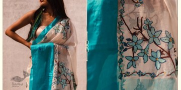 Kamya . काम्या ✽ Hand Embroidered Handloom Kota Saree - 34