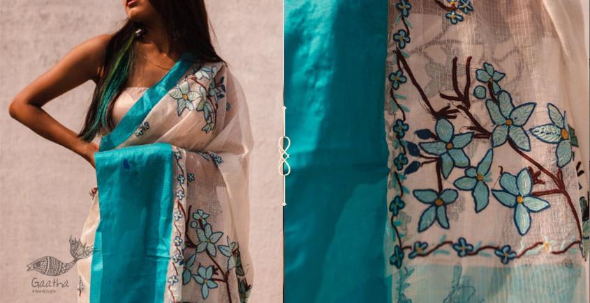 Kamya . काम्या ✽ Hand Embroidered Handloom Kota Saree - 34