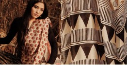 Kamya . काम्या ✽ Handloom Bagru Printed Silk Cotton Saree - 30