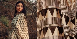 Kamya . काम्या ✽ Handloom Bagru Printed Silk Cotton Saree - 31