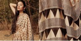 Kamya . काम्या ✽ Handloom Bagru Printed Silk Cotton Saree - 32