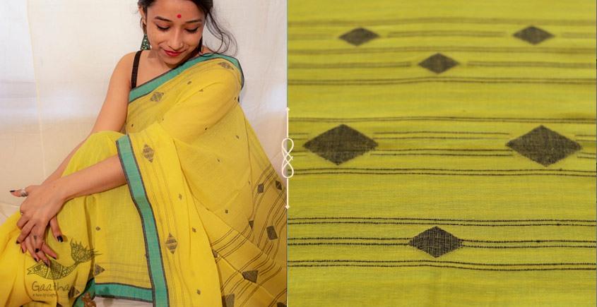Kamya . काम्या ✽ Handloom Jamdani Cotton Saree - 19