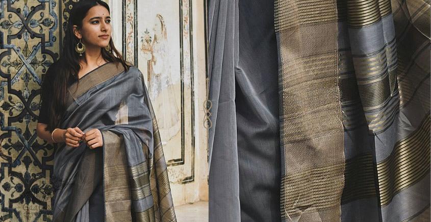 Kamya . काम्या ✽ Handloom Maheshwari Saree - 16