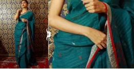 Kamya . काम्या ✽ Jamdani Linen Saree - 21