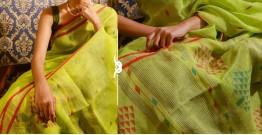 Kamya . काम्या ✽ Jamdani Linen Saree - 22