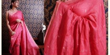 Kamya . काम्या ✽ Jamdani Linen Saree - 23