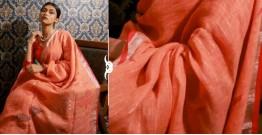 Kamya . काम्या ✽ Jamdani Linen Saree - 25
