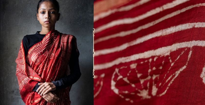काम्या . kamya ✽ Cotton Silk Dabu Printed Saree - 2