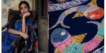 काम्या . kamya ✽ Batik Handloom Maheshwari Saree - 5