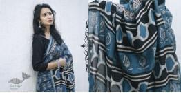 काम्या . kamya ✽ Cotton Silk Dabu & Pharad Block Printed Indigo Saree - 40