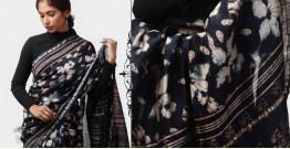 Kamya . काम्या ✽ Cotton Silk Dabu & Pharad Block Printed Indigo Saree - 43