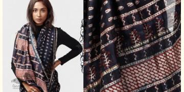 Kamya . काम्या ✽ Cotton Silk Dabu & Pharad Block Printed Indigo Saree - 44
