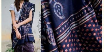Kamya . काम्या ✽ Cotton Silk Dabu & Pharad Block Printed Indigo Saree - 47