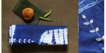 नखराली | Nakharali ✼ Embroidered Cotton Shibori Saree | 8