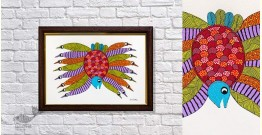 Gond Folk & Tribal Art Painting ( 25cm x 35cm ) | 9
