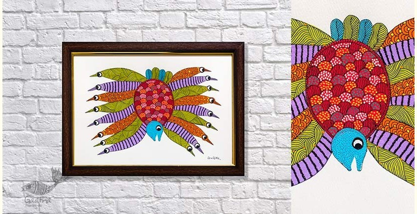 buy online exclusive painting on canvas - gond painting