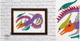 Gond Folk & Tribal Art Painting ( 25cm x 35cm ) | 10