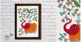 Gond Folk & Tribal Art Painting ( 25cm x 35cm ) | 14