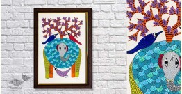 Gond Folk & Tribal Art Painting ( 25cm x 35cm ) | 15