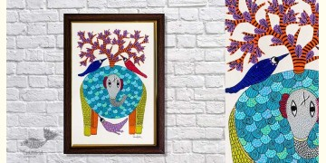 Gond Folk & Tribal Art Painting ( 25cm x 35cm ) | 15