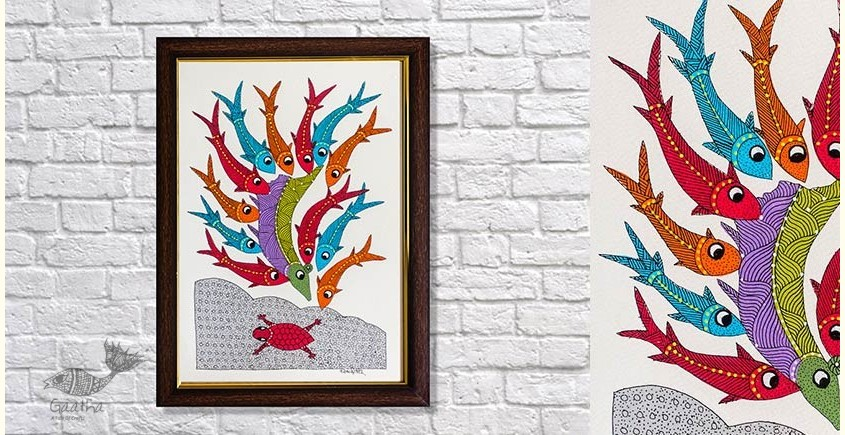 Gond Folk & Tribal Art Painting ( 25cm x 35cm )   11