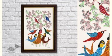 Gond Folk & Tribal Art Painting ( 25cm x 35cm ) | 2