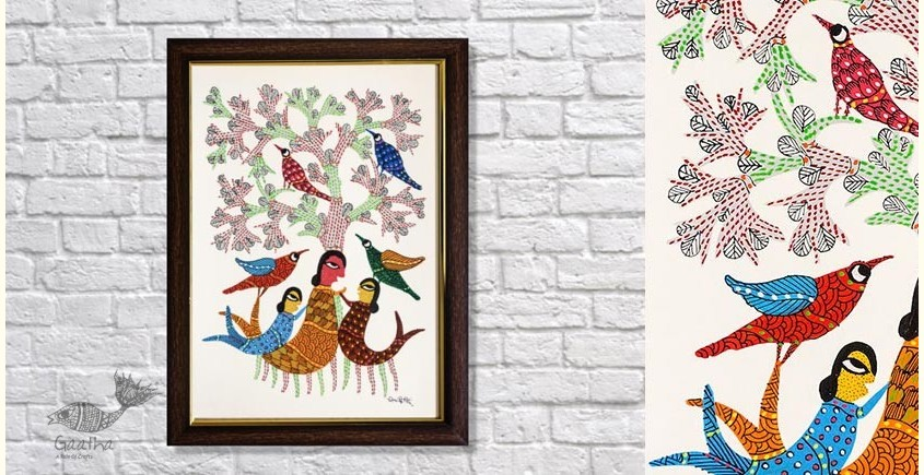 Gond Folk & Tribal Art Painting ( 25cm x 35cm )   2