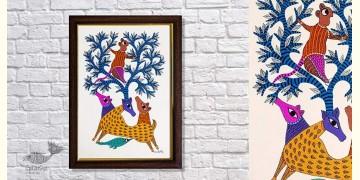 Gond Folk & Tribal Art Painting ( 25cm x 35cm ) | 3