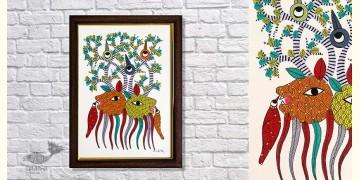 Gond Folk & Tribal Art Painting ( 25cm x 35cm ) | 4