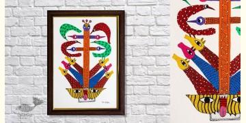 Gond Folk & Tribal Art Painting ( 25cm x 35cm ) | 5