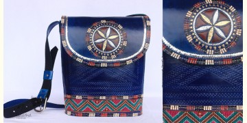 Be Nomadic | Kutchi Leather Sling Bag With Rabari Embroidery - 9