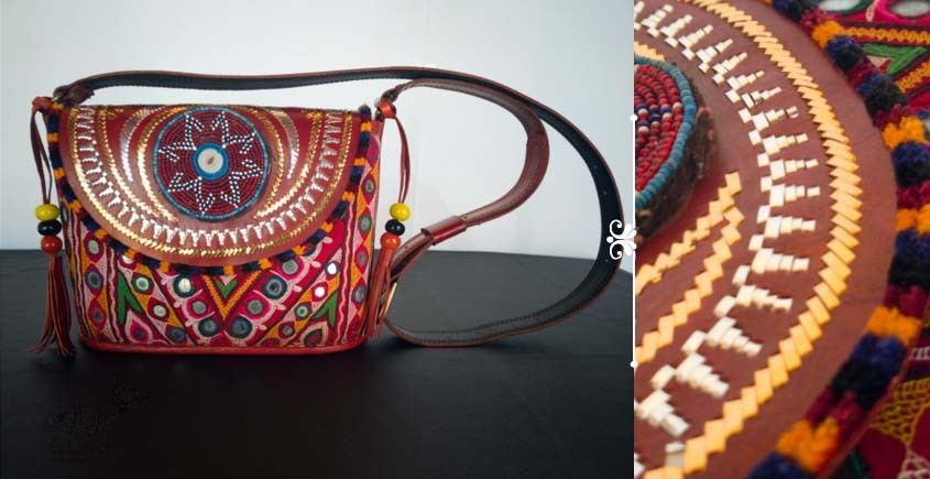 Tunes From the Duens ⌘ Leather Handbag With Kutchi Embroidery ⌘ 14