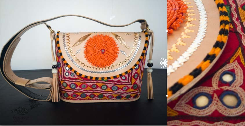 Tunes From the Duens ⌘ Leather Handbag With Kutchi Embroidery ⌘ 18